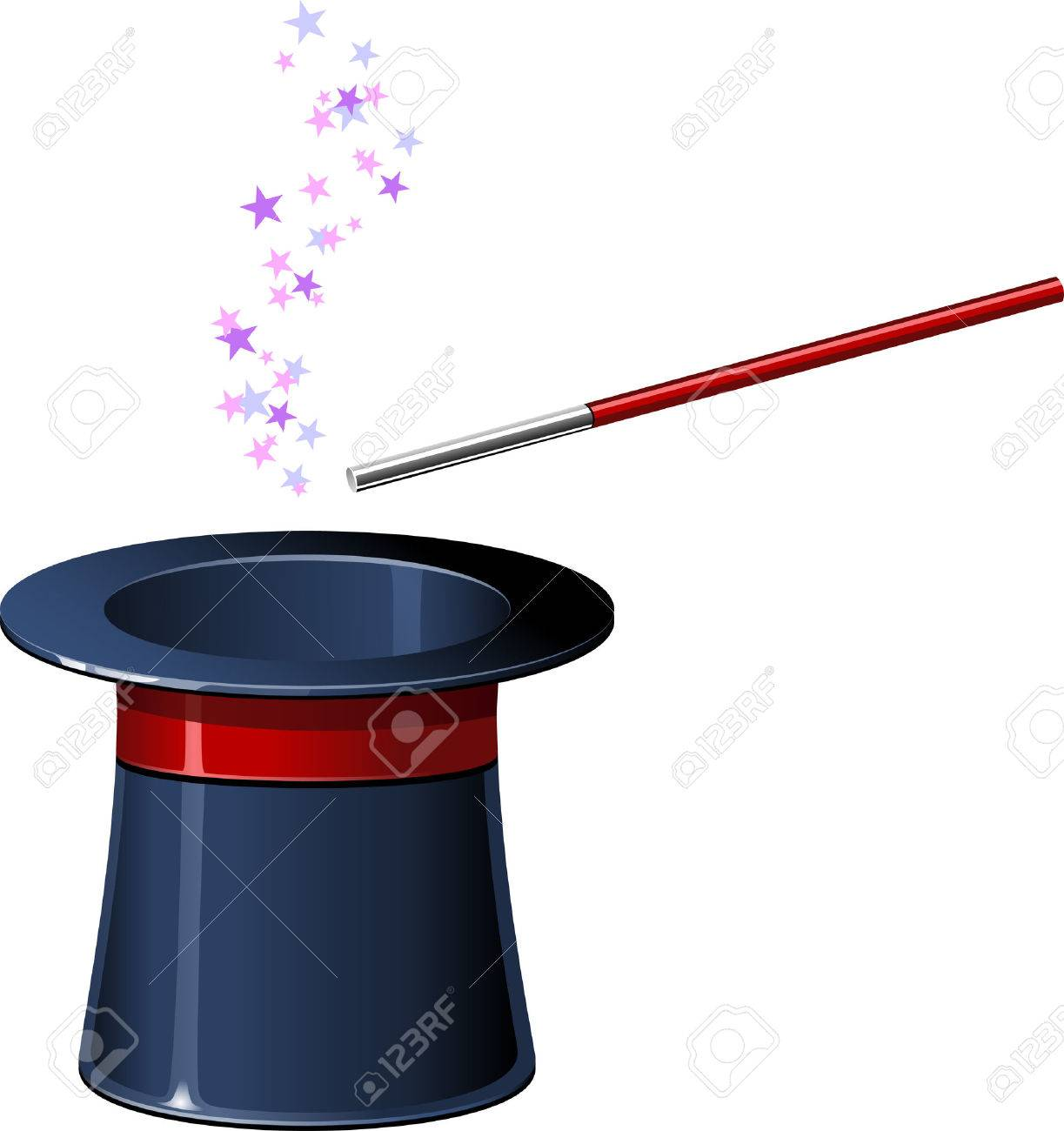 Top hat with wand. EPS8 Stock Vector - 8364809