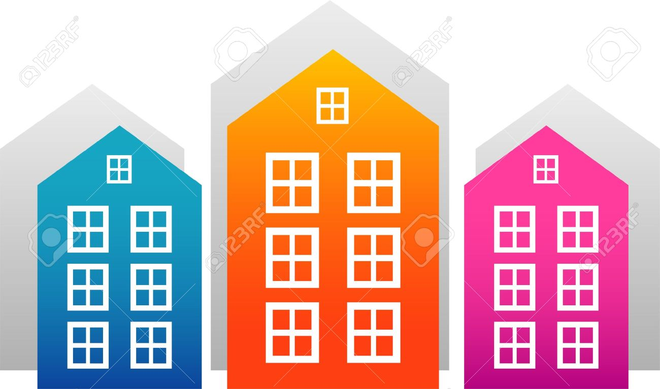 Vector houses isolated on white. EPS 8 Stock Vector - 10075177