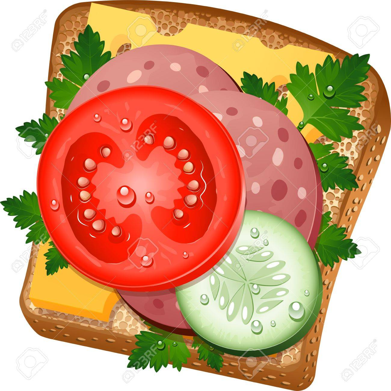 Delicious sandwich on white background. Stock Vector - 14168929