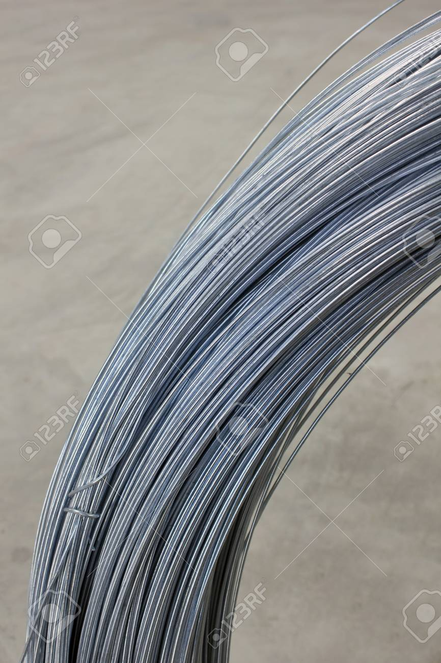Steel Tie Wire Used In Construction Of All Kinds. Stock Photo ...