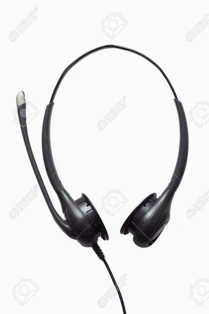 Telephone Headset With A Microphone Stock Photo Picture And Royalty Free Image Image 64445351