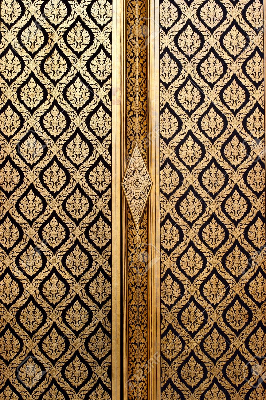 thai vintage door: Naive Thai style of Gilded Black Lacquer Stock Photo & Thai Vintage Door Images \u0026 Stock Pictures. Royalty Free Thai ... Pezcame.Com