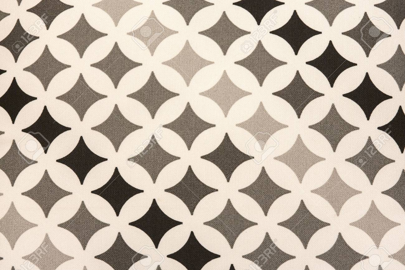 fabric texture - black and grey square stars on white background Stock Photo - 22561467