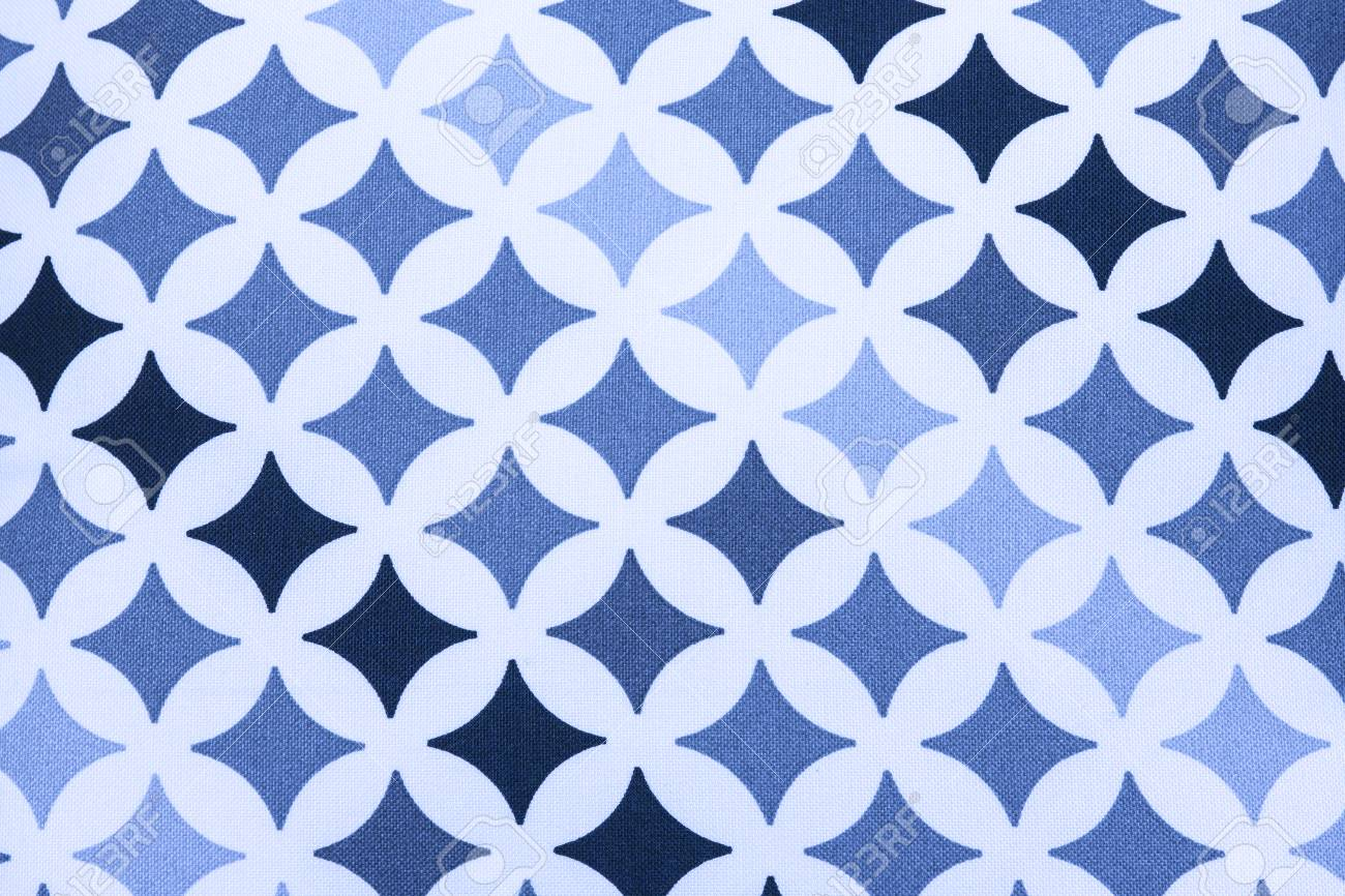 fabric texture - black and blue square stars on white background Stock Photo - 22561468
