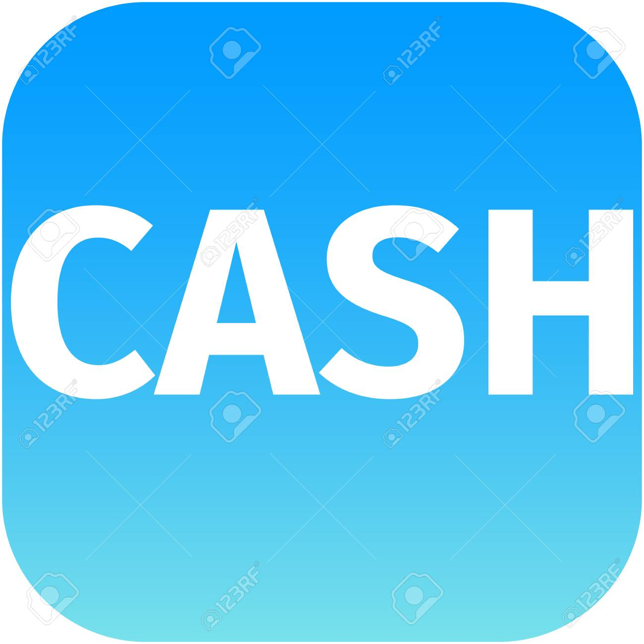 Blue Cash Icon For Web Or Phone App Stock Photo Picture And Royalty Free Image Image 29769668