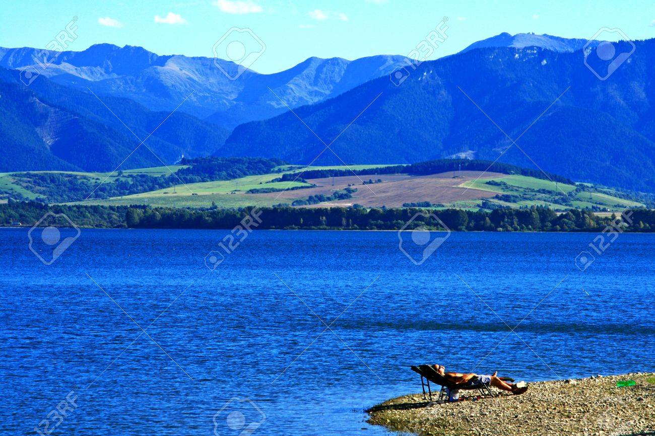 Liptovska Mara - water basin in region Liptov, Slovakia Stock Photo - 18029780