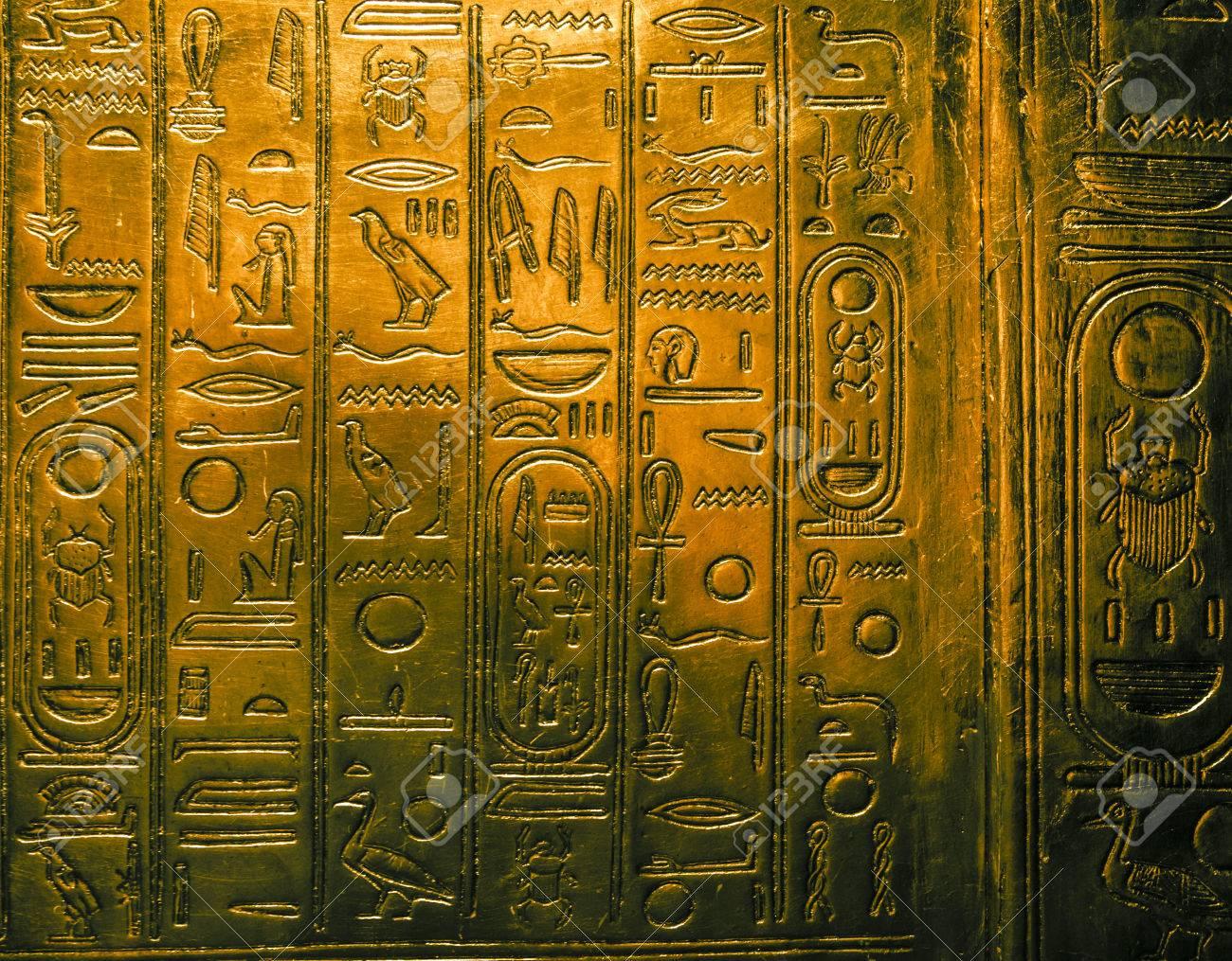 Egyptian hieroglyphics - 34891427