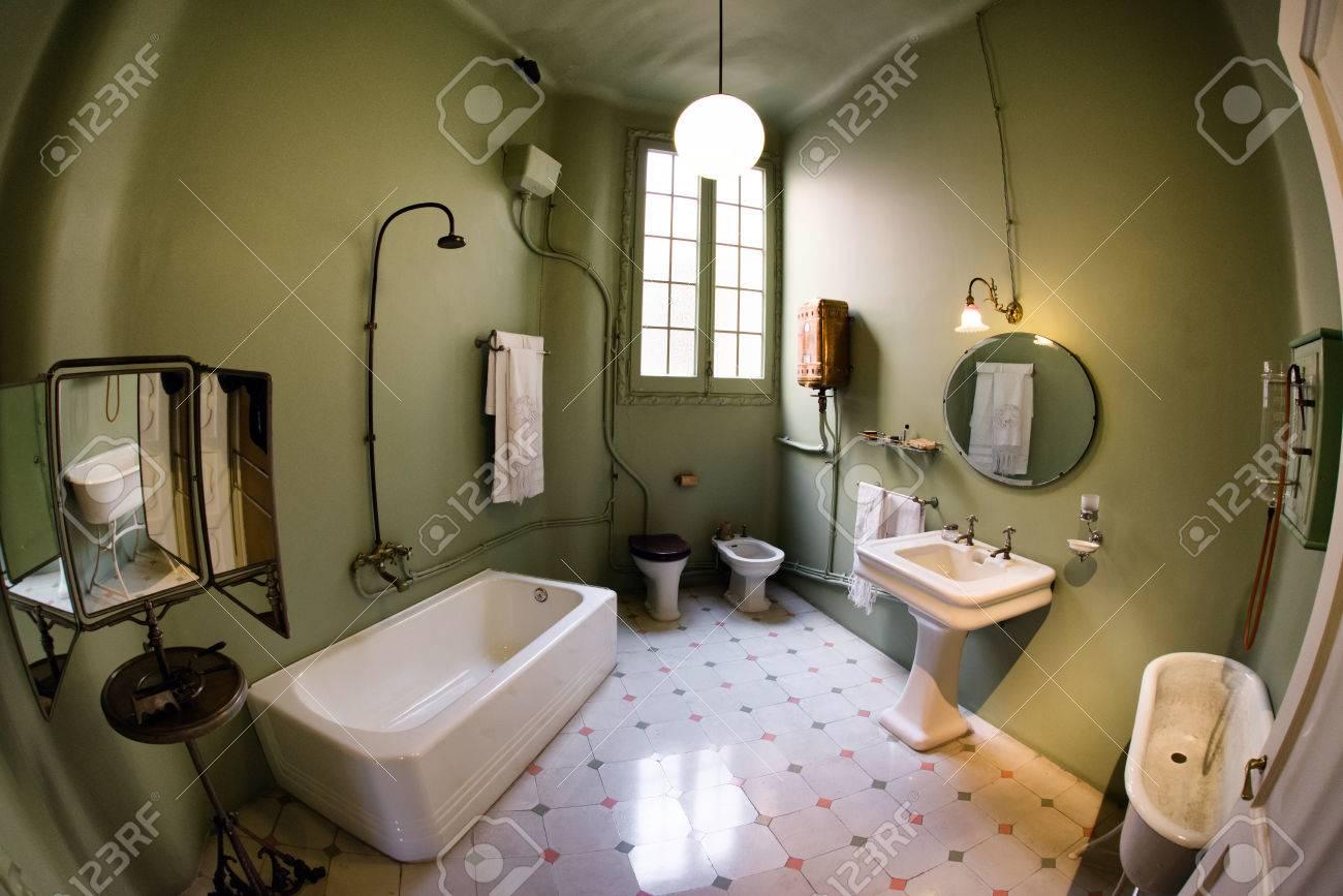 Interior Of Case Mila Also Known La Pedrera - House Designed.. Stock ...