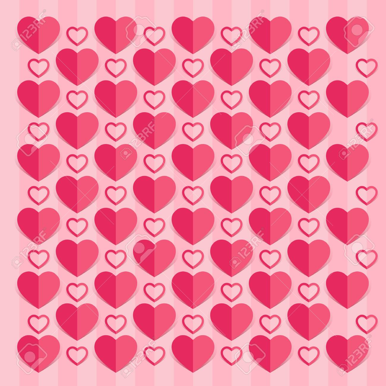 love hearts valentines day background , paper cut style royalty free