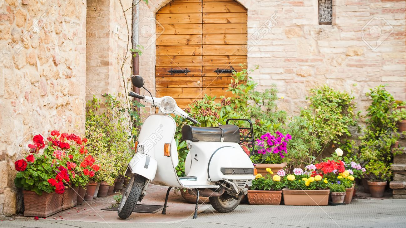One of the most popular transport in Italy, vintage Vespa - 29671836