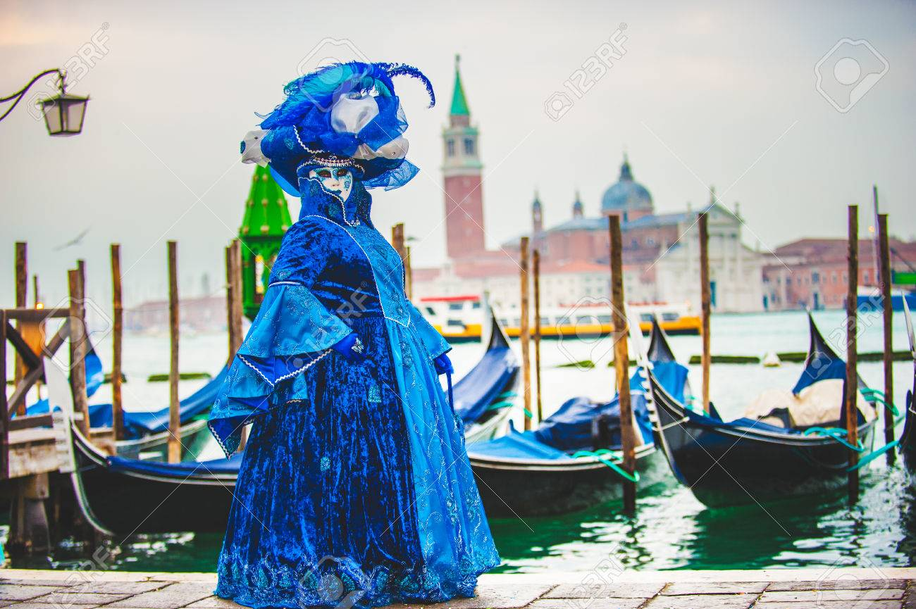 Venetian carnival, masquerade one of a kind in the world. - 36615377