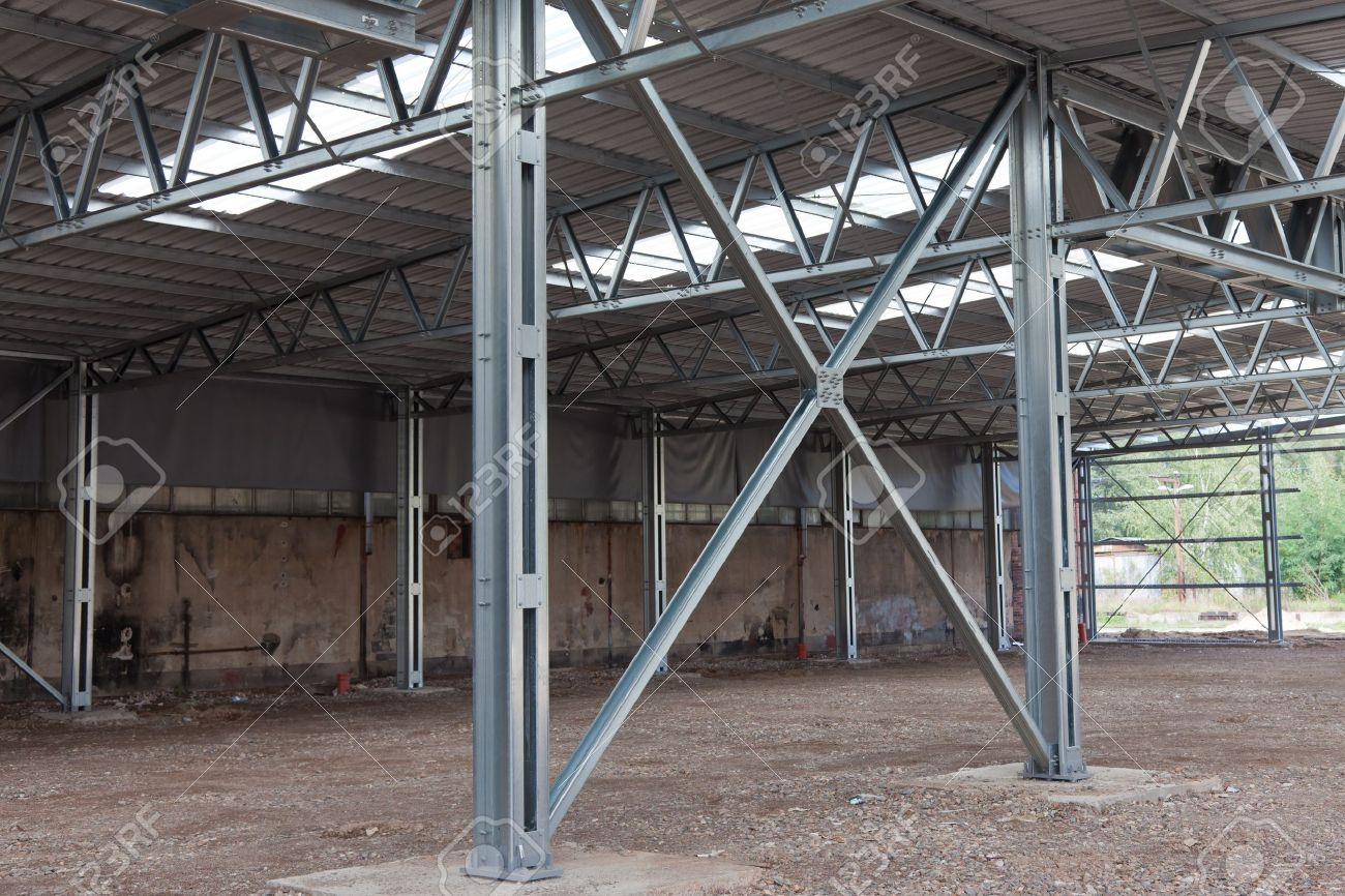 Cross Bracing Of Steel Structure Stock Photo, Picture And Royalty ...