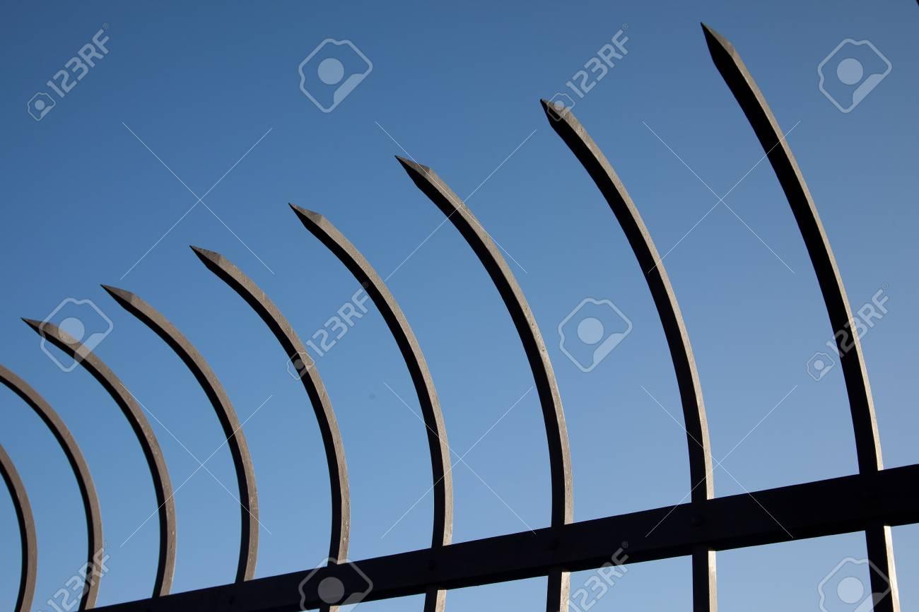 Guarding steel spiky bent bars Stock Photo - 13527222