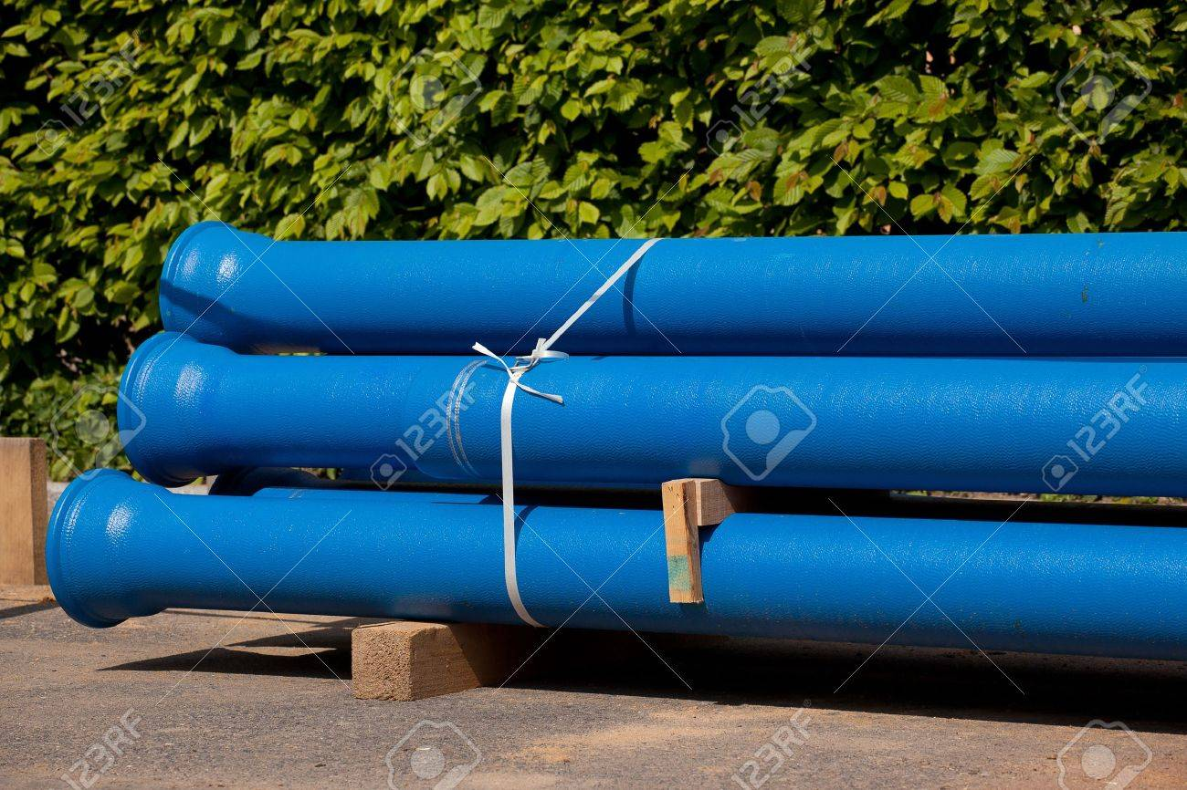 New Pipes For Water Supply In Bundle Stock Photo, Picture And ...