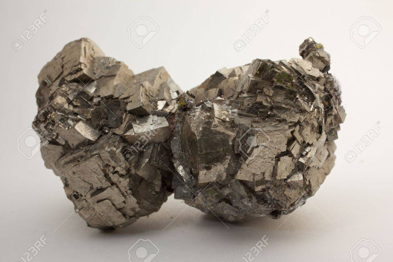 Pyrite - FeS2- source of iron and sulphur, Stock Photo - 16116697