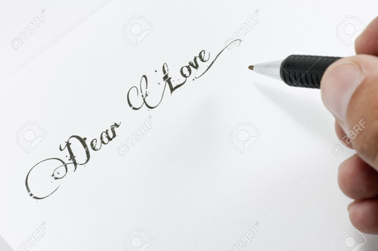 A man writing a love letter stock photo picture and royalty free a man writing a love letter stock photo 10537114 spiritdancerdesigns Image collections