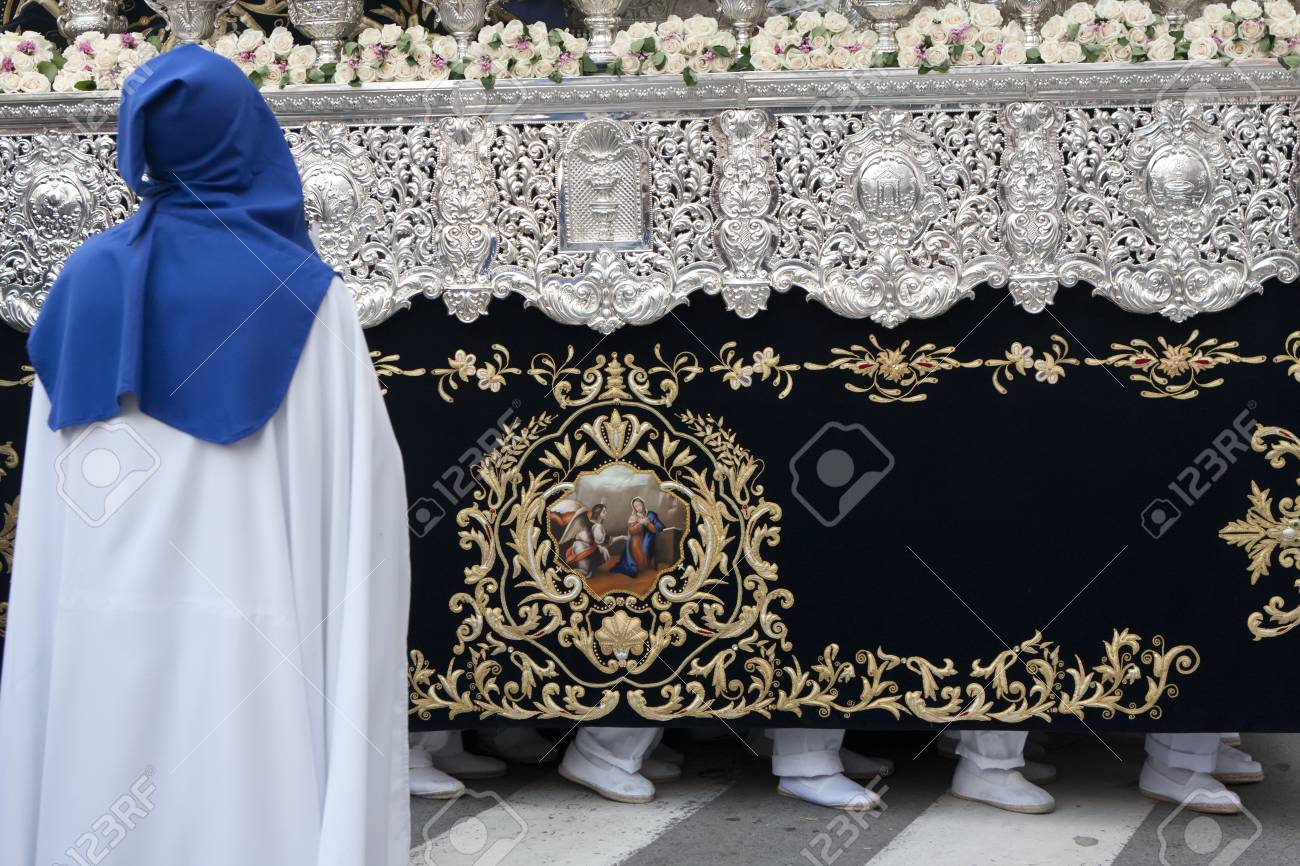 the bearers of the Virgin of the star, carried through the streets Stock Photo - 13021550