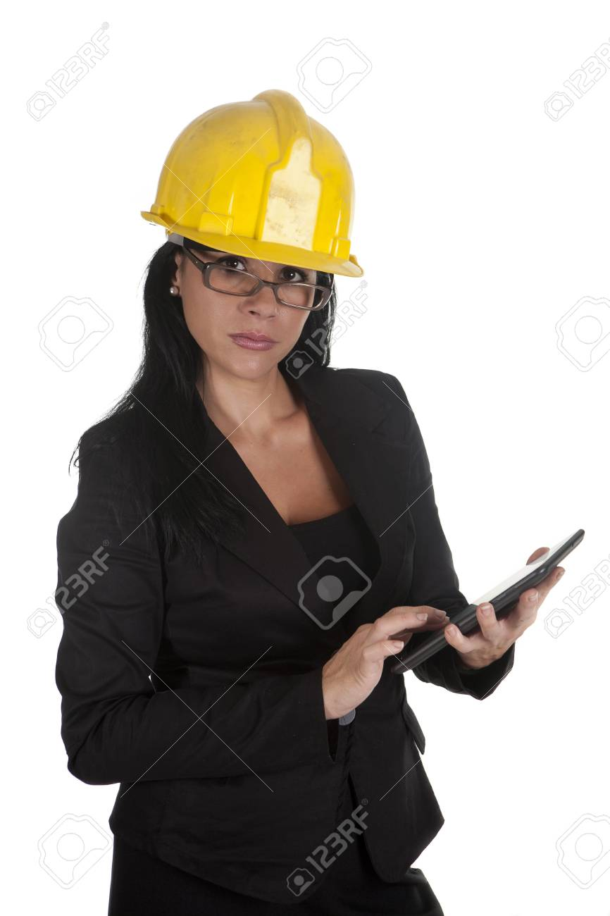one female boss of work, using your tablet Stock Photo - 16168857