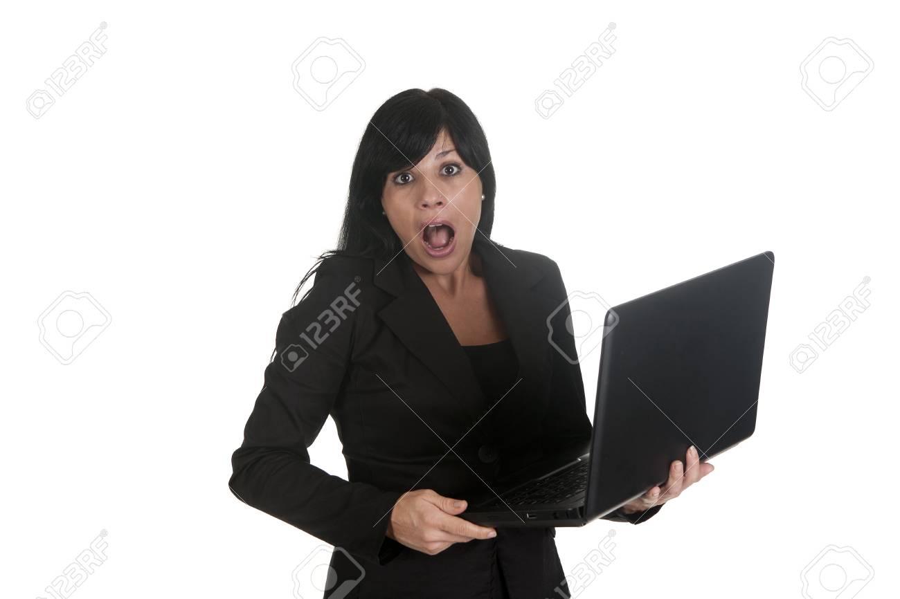 a woman entrepreneur, using his laptop Stock Photo - 16584126