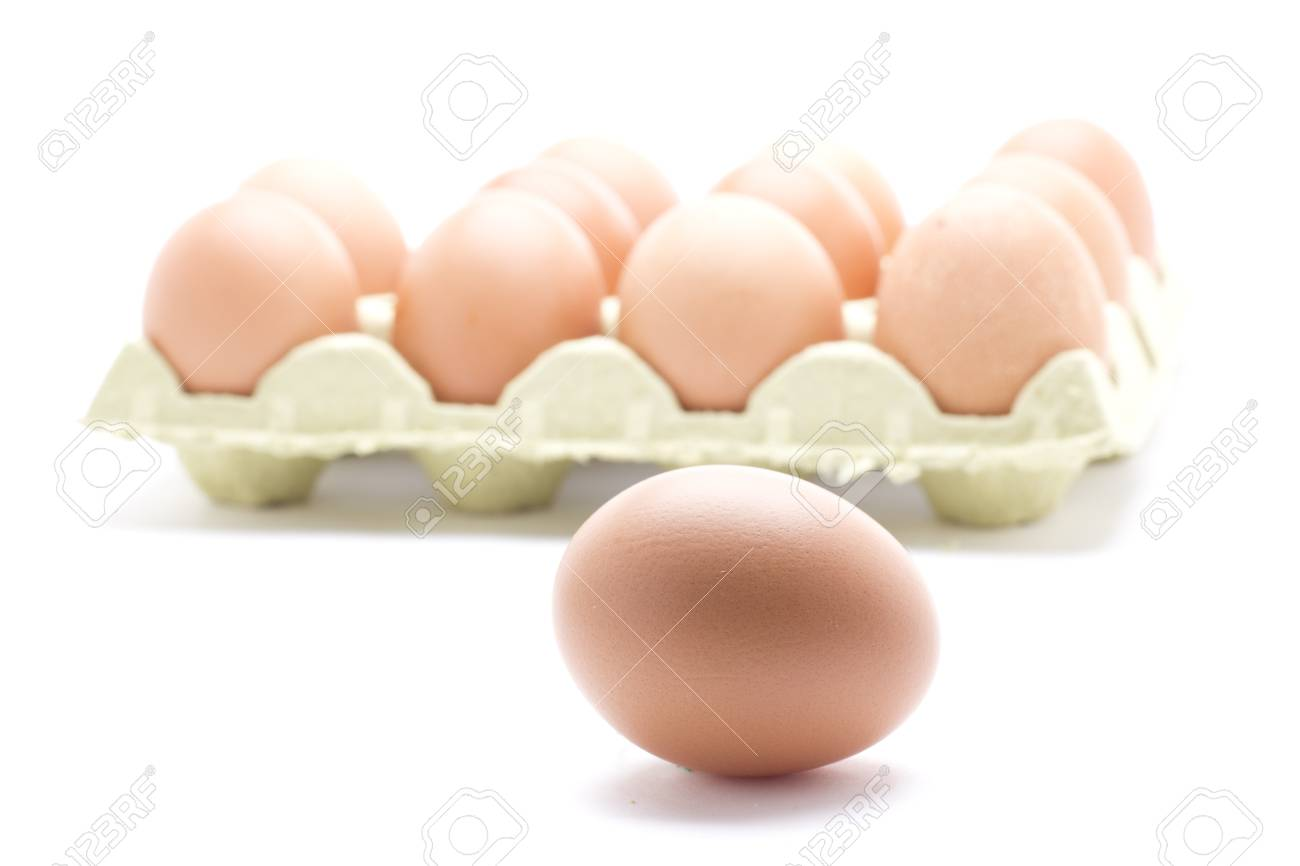 a box with a dozen farm fresh eggs Stock Photo - 18514952