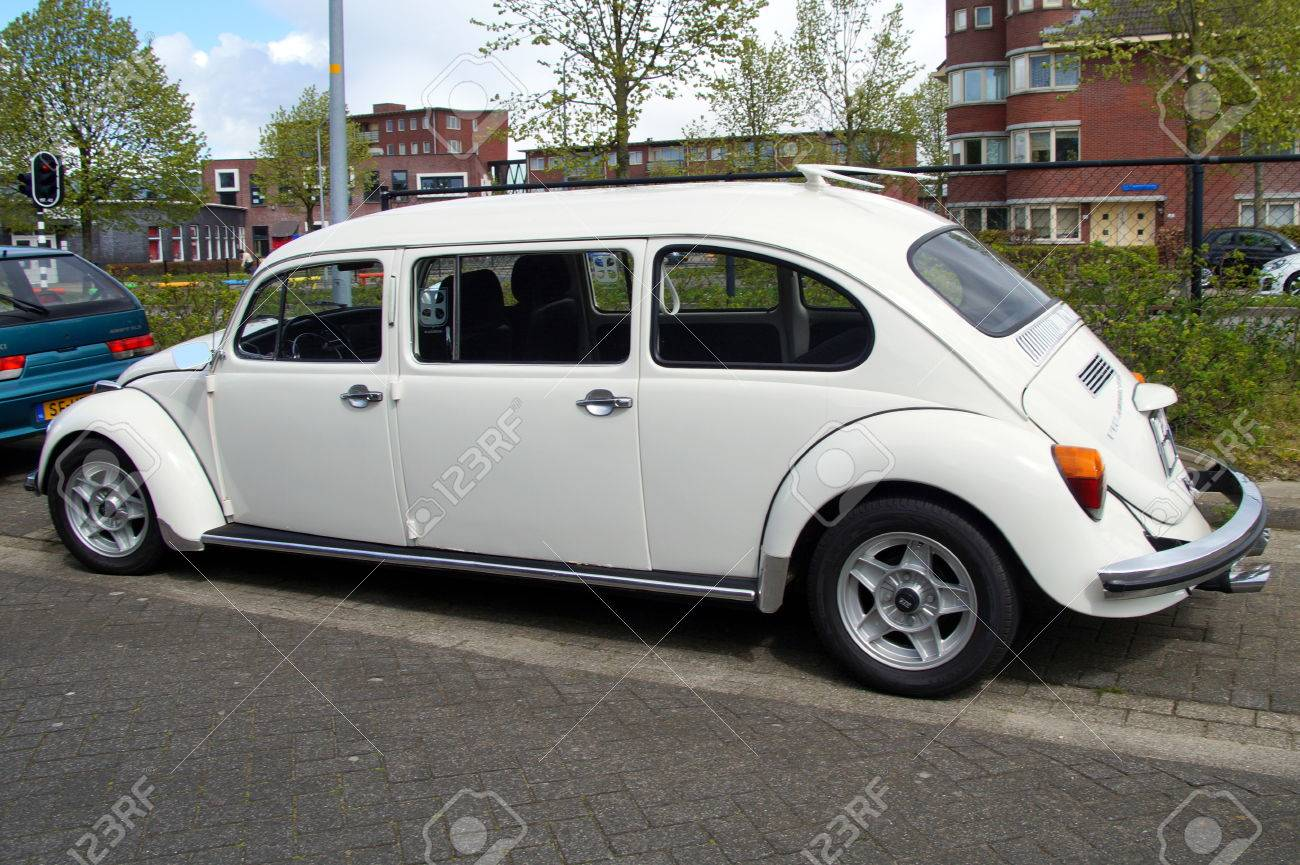 White Volkswagen Beetle Stretched Limousine Stock Photo Picture And Royalty Free Image Image 56050069