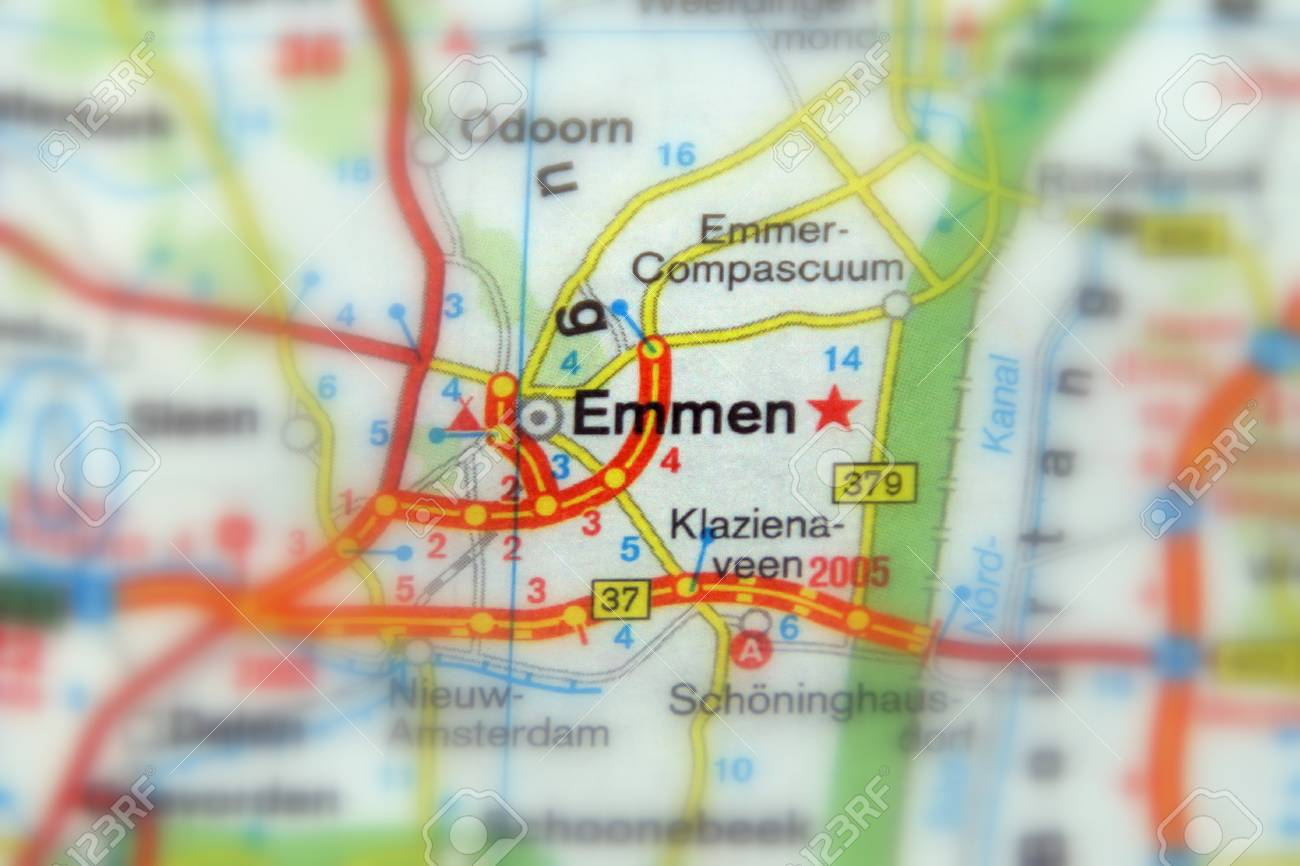 Emmen The Municipality And Province Of The Province Drenthe Stock