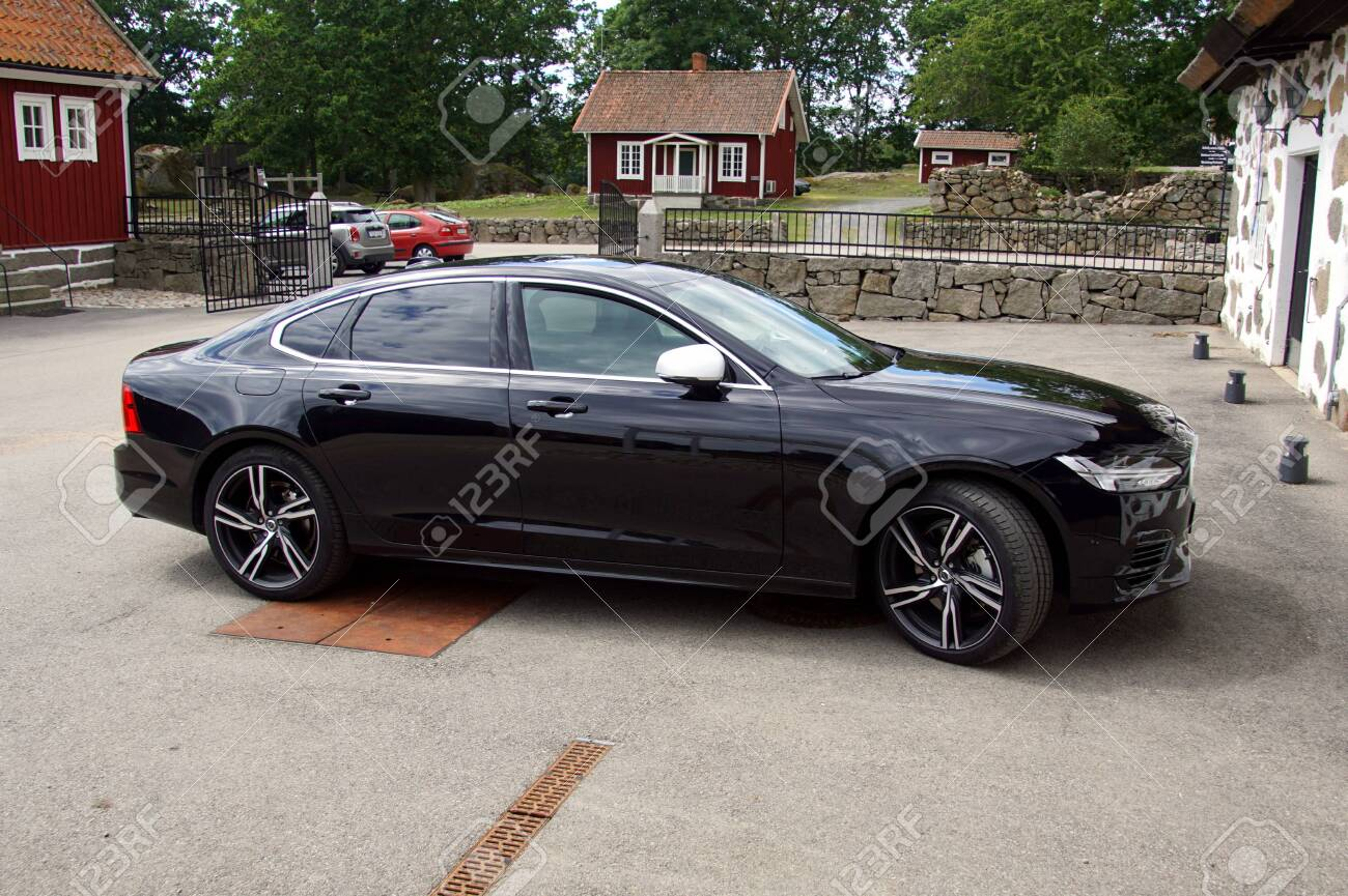 Karlshamn Sweden July 24 2019 Parked Black Volvo S90 Nobody Stock Photo Picture And Royalty Free Image Image 129182658
