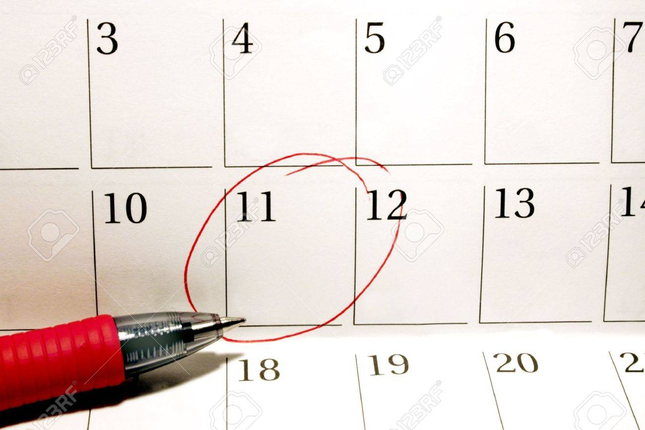 Calendar Date Circled Personal Calendar With Circled