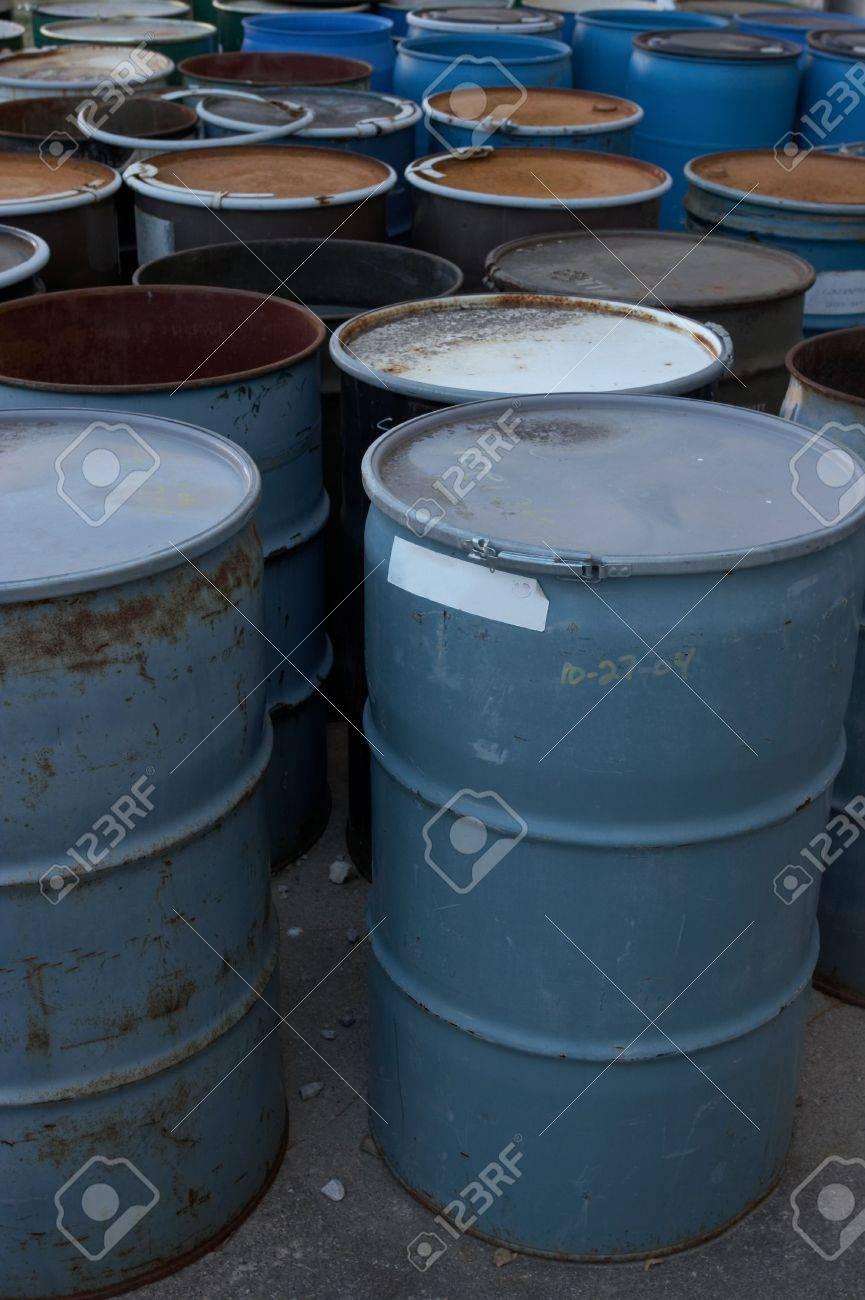 55 gallon drums Stock Photo - 475313