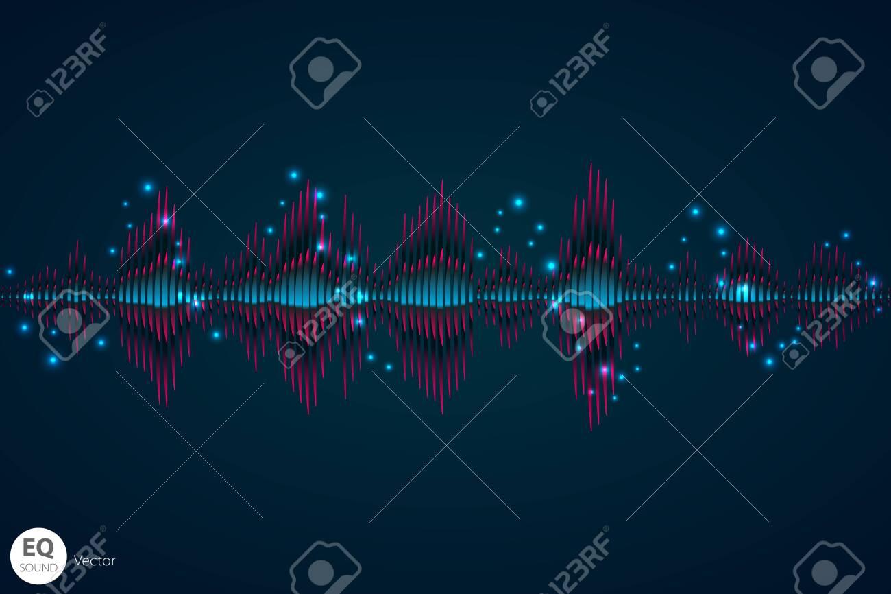 Sound wave  Vector Illustration of a blue music equalizer