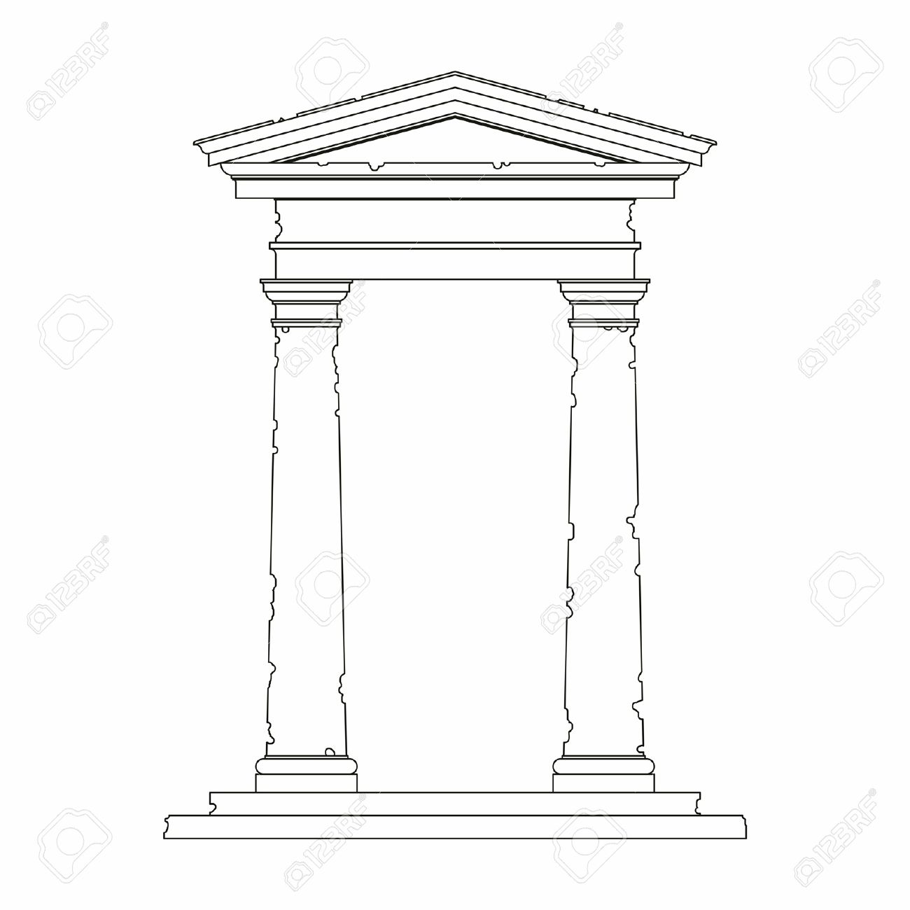 Ancient Portal With Use Of The Tuscan Order Stock Vector