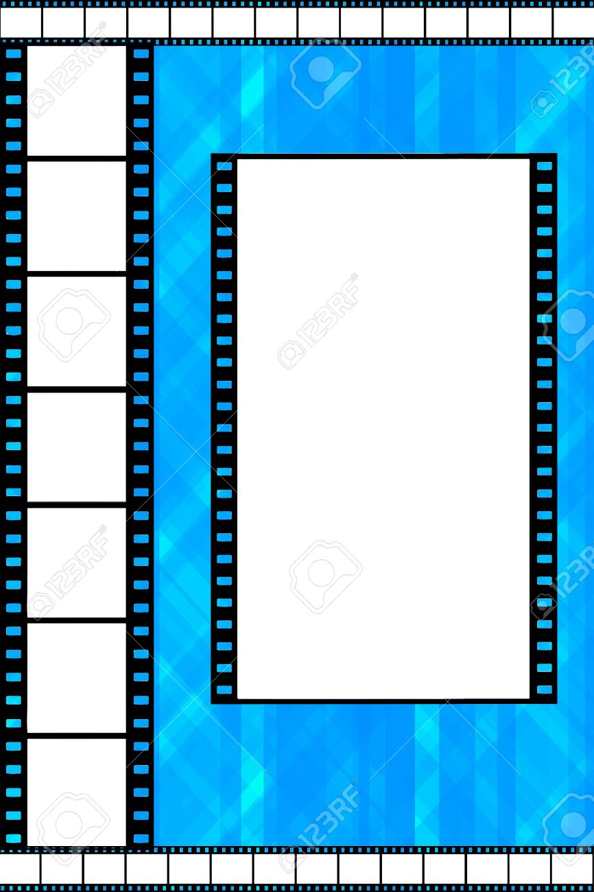 Blue Film Strip Frame Stock Photo, Picture And Royalty Free Image ...