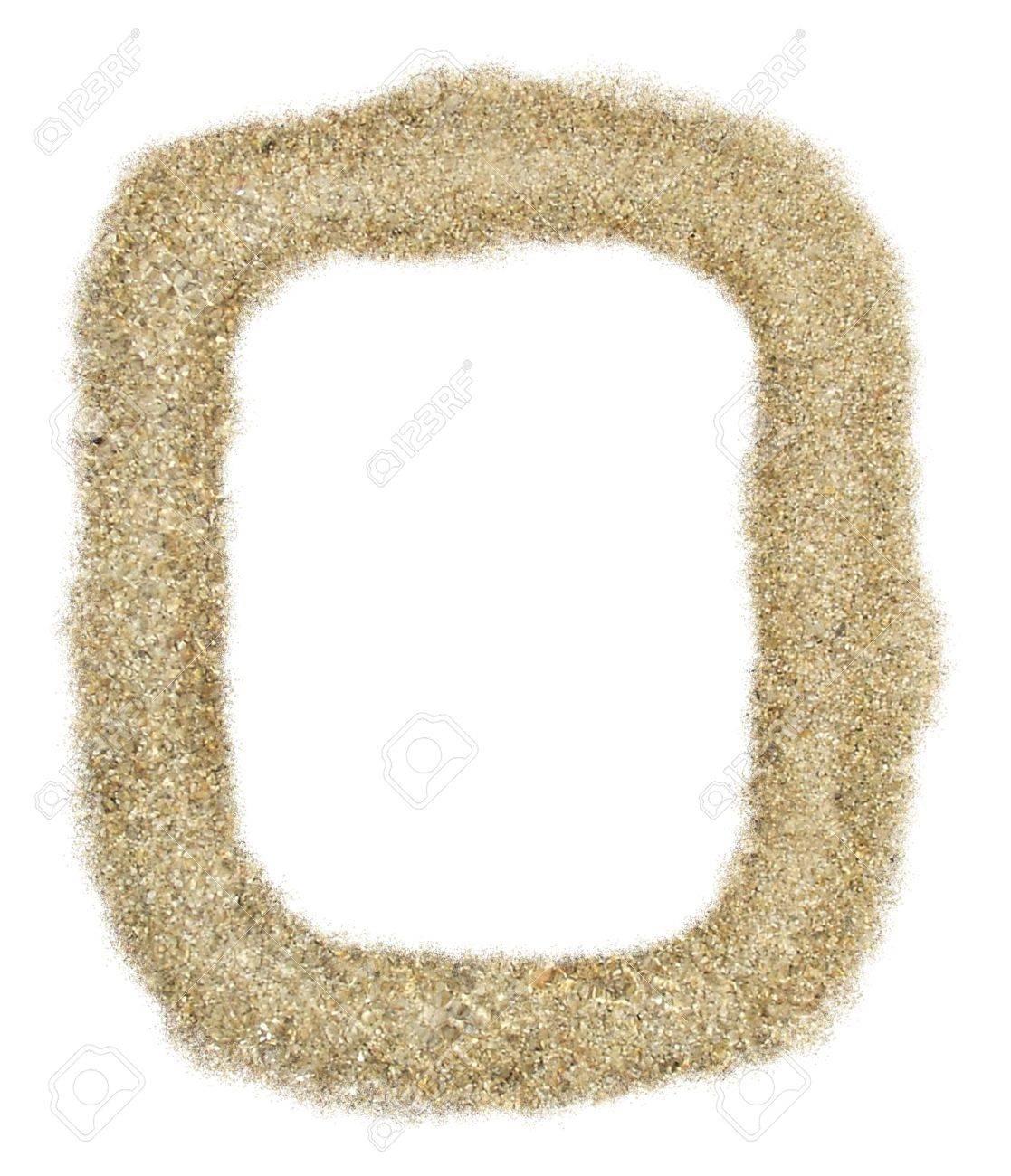 rectangle sand frame stock photo 3449042
