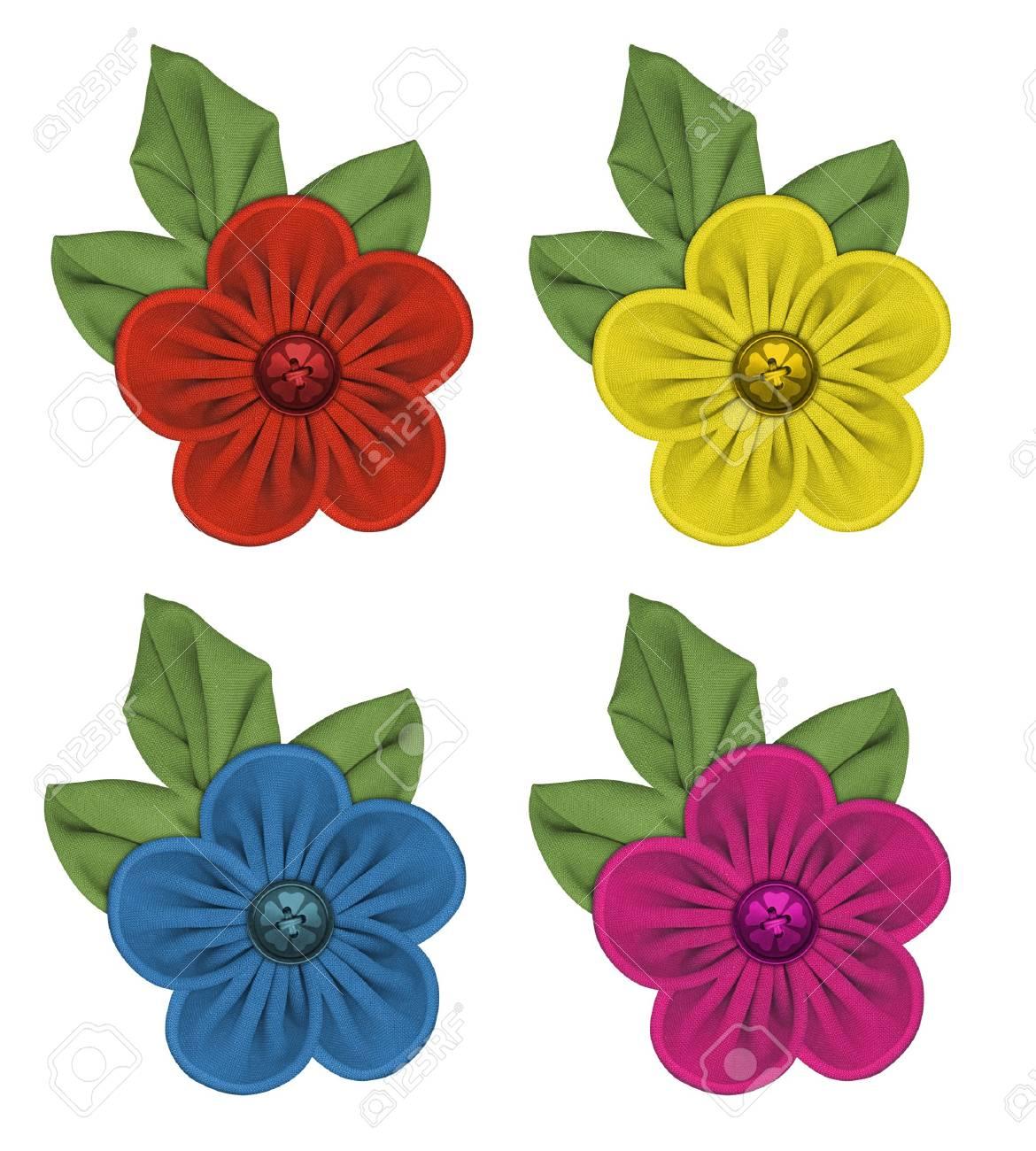 fabric flowers Stock Photo - 4007082