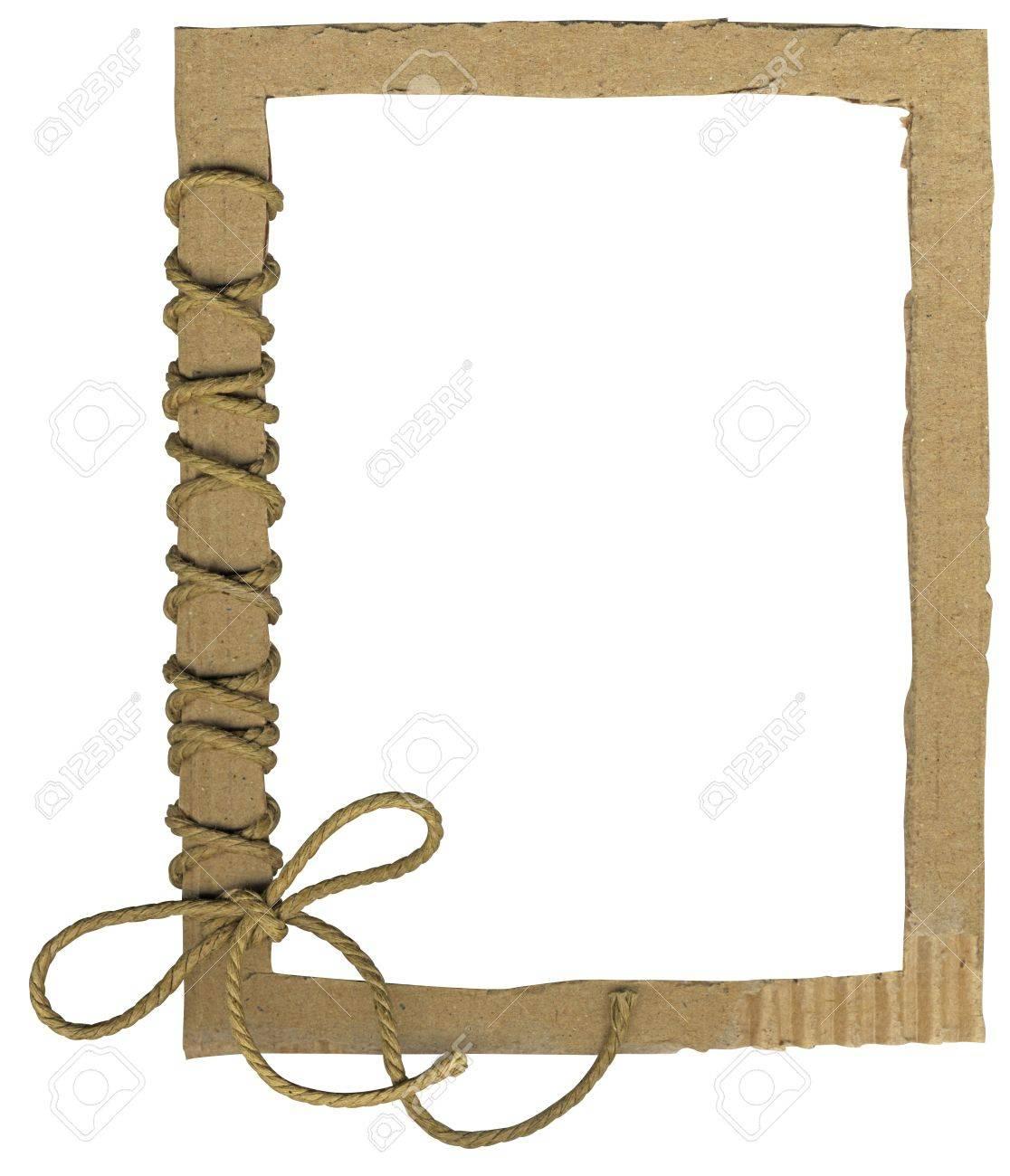 Karton-Rahmen Für Foto Mit Einem Seil Bogen Lizenzfreie Fotos ...