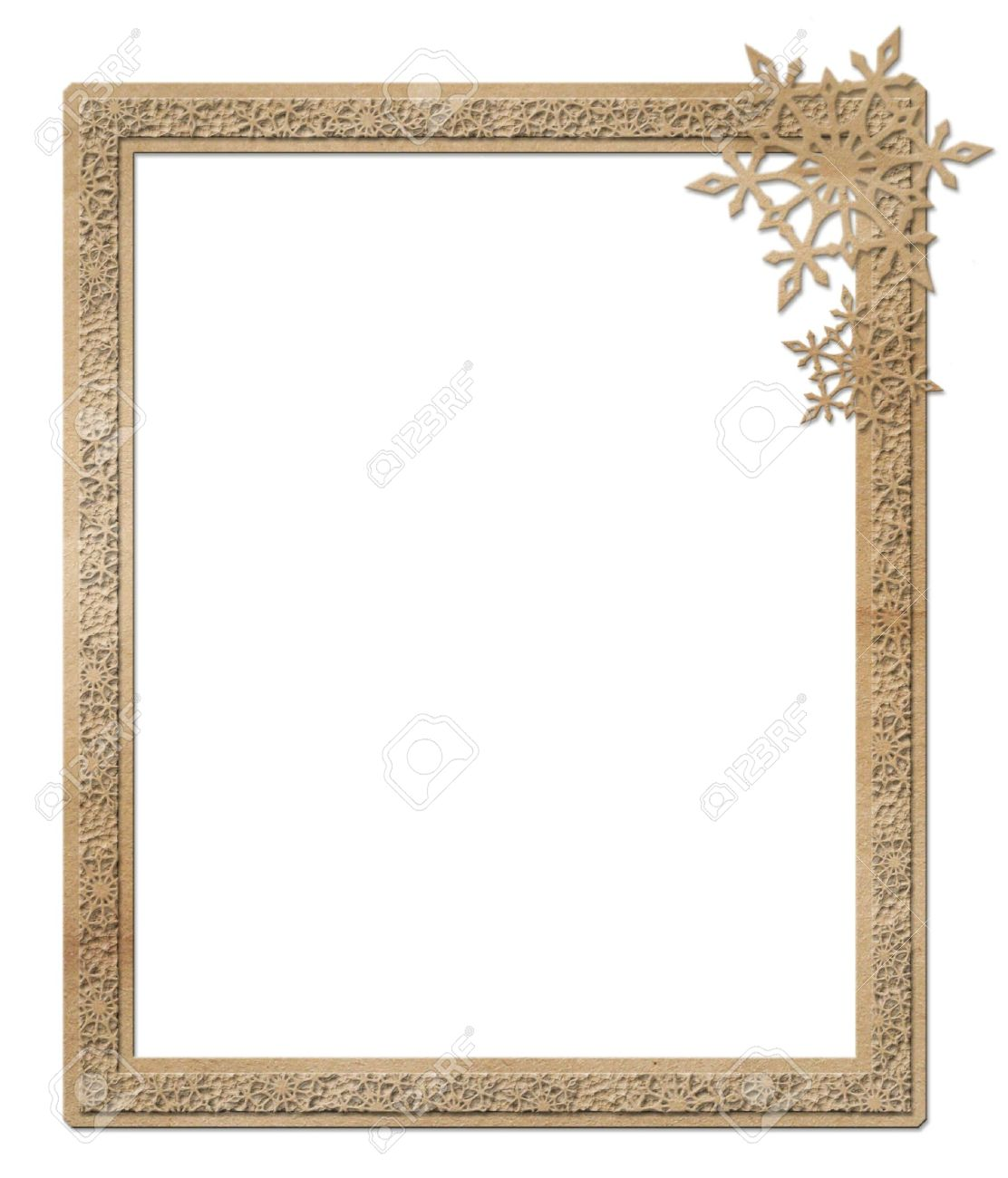 Cardboard Winter Frame Stock Photo, Picture And Royalty Free Image ...