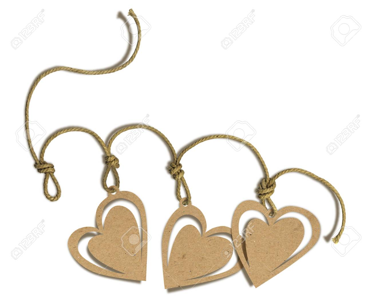 Romantic tag with hearts Stock Photo - 4937191
