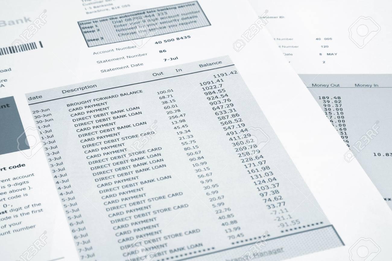 relevé de carte bancaire Relevé Bancaire Et Carte De Crédit Banque D'Images Et Photos