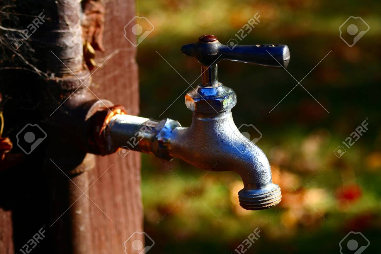 This Old Water Faucet Is Color Enhanced To Bring Out Otherwise ...