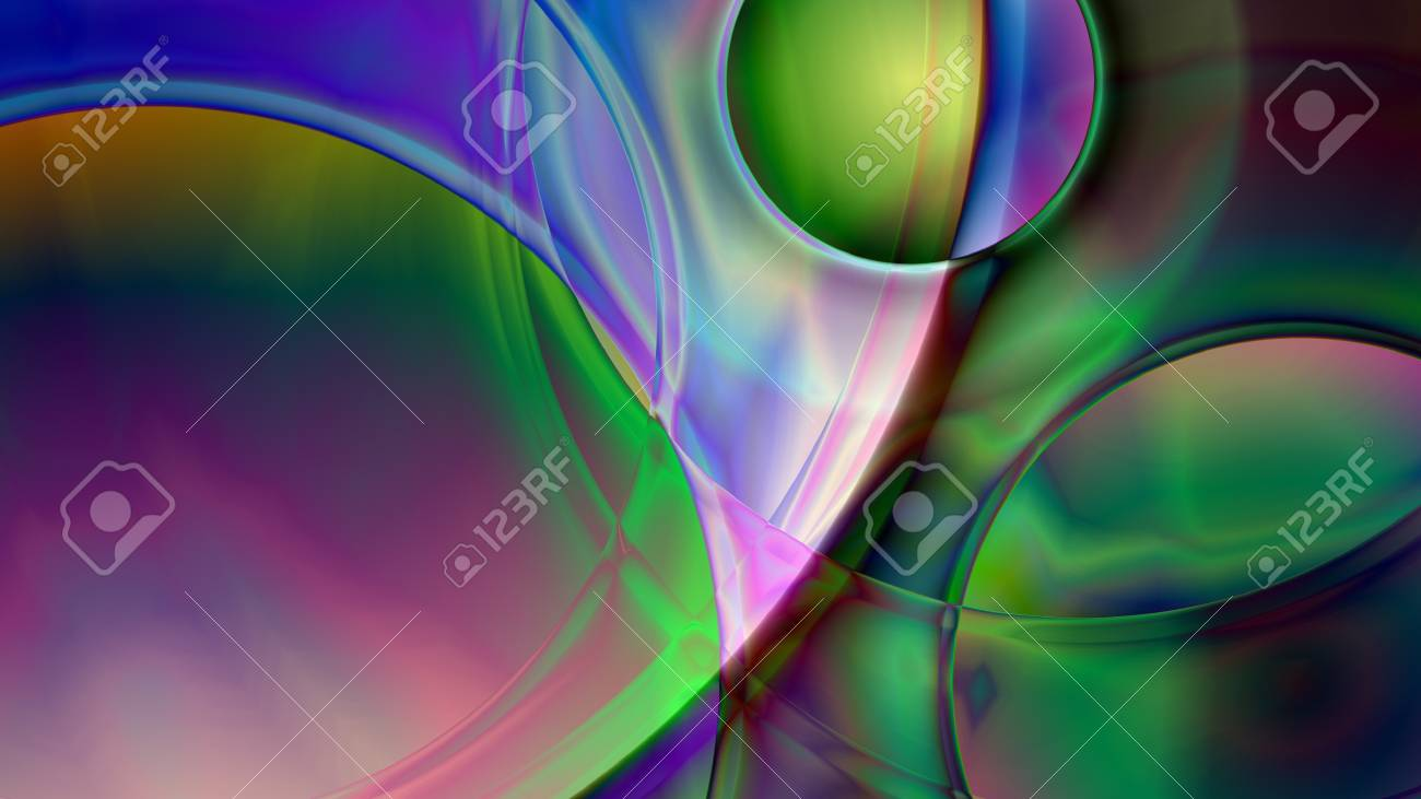 Colorful Abstract Prism Background Based On Spheres In 4k Resolution