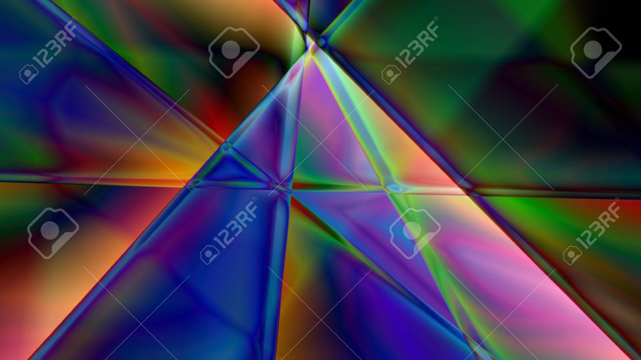 Colorful Abstract Prism Background Based On Lines In 4k Resolution
