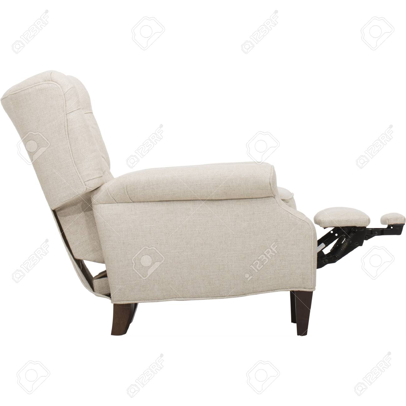 Picture of: Light Beige Fabric Recliner Club Chair Stock Photo Picture And Royalty Free Image Image 93014127