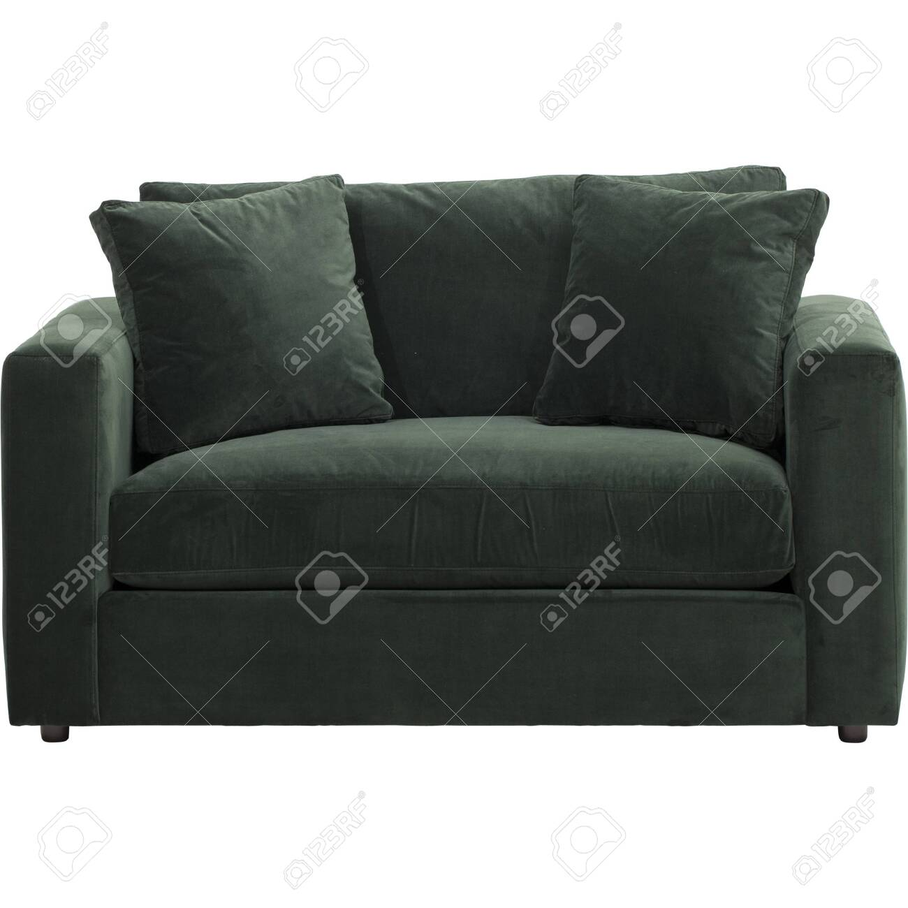 Balsam green velvet sofa, Slipcover Stretchable Pure Color Sofa..