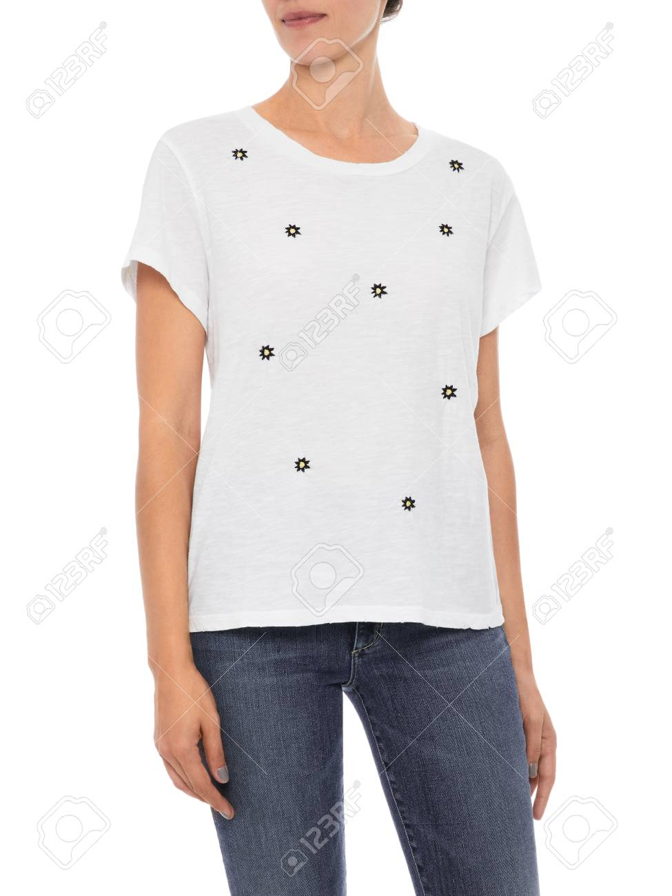 Stock Photo - Women T Shirt Womens Cheap Plain O Neck T Shirts In Different  Color d8ede9f4dd