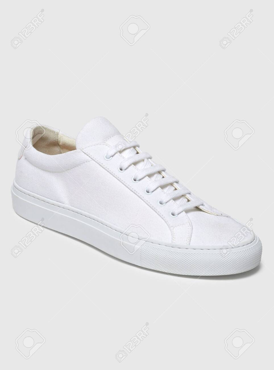 White Casual Sneakers With White Base