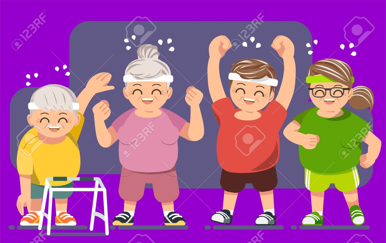 Elderly people with good health concept - 85325429