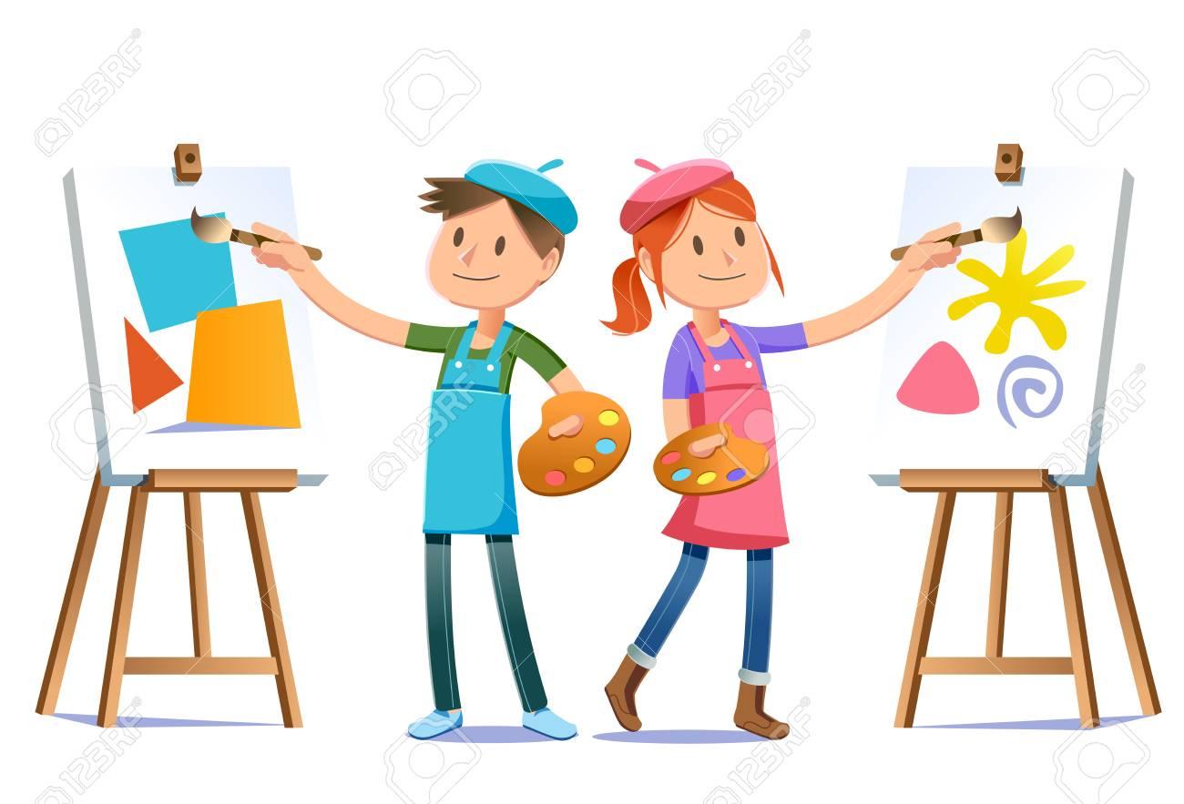 Los Artistas Jóvenes Practican Sus Habilidades Para Encontrar Un ...