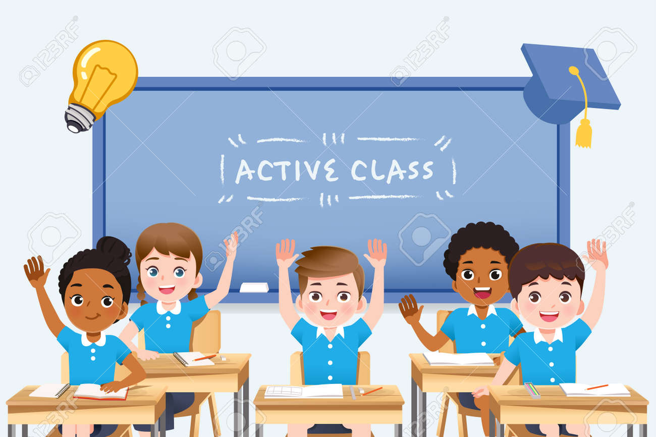 The international student classroom is very cooperative in teaching. interesting lesson concept. - 168924717