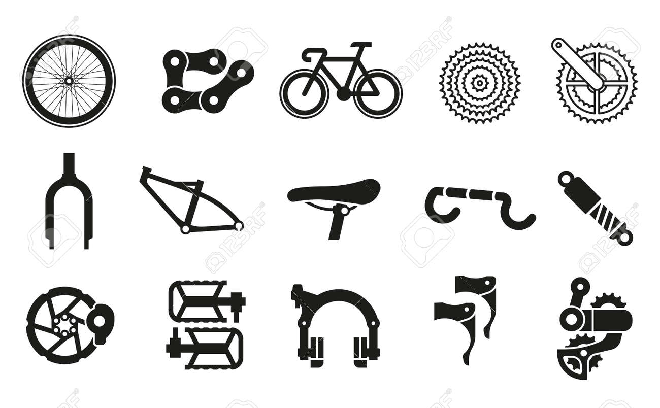 Common bicycle parts for assembling parts into 1 bicycle. - 170186259