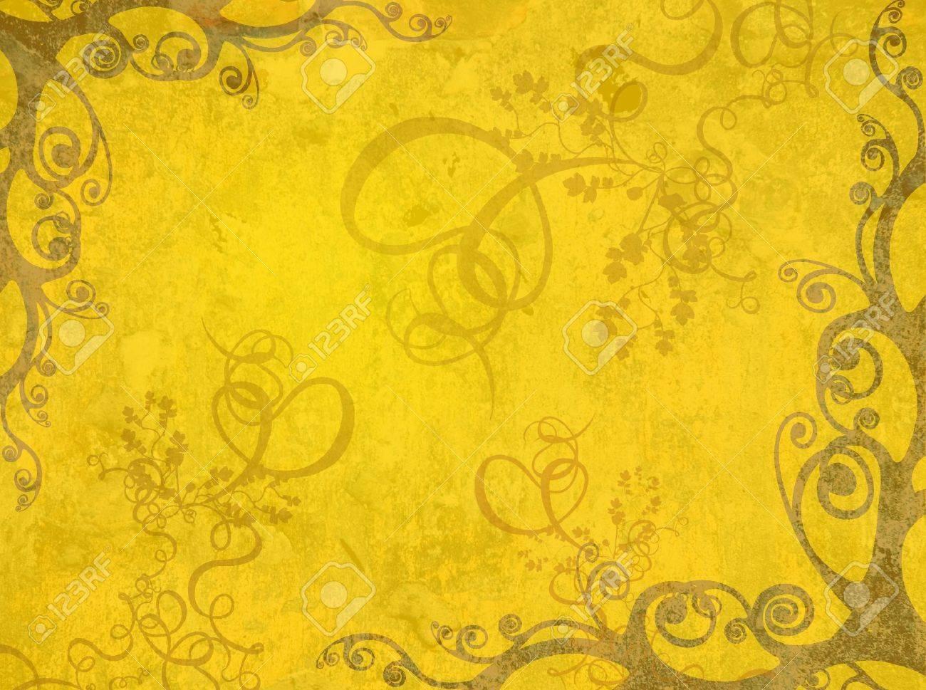 yellow artistic frame Stock Photo - 353850